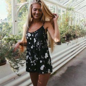 Black Floral Kimia Romper